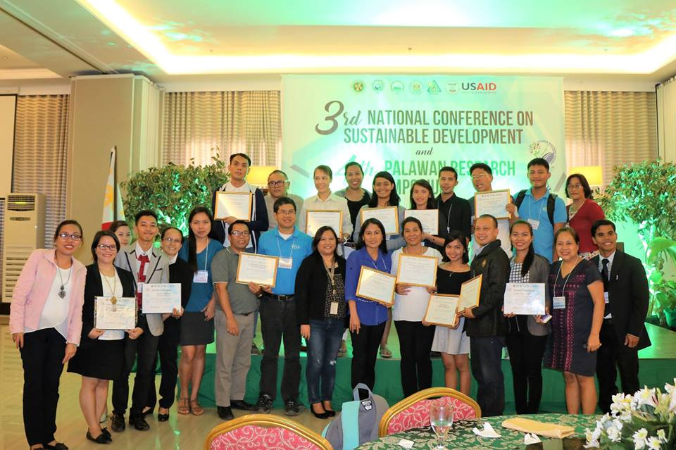 WPU researchers won awards during the 3rd National Conference on Sustainable Development and 4th Palawan Research Symposium